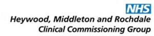heywood, middleton rochdale ccg logo